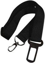 Autogordel voor hond – zwart  – verstelbare set  (43cm - 70cm)
