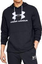 Under Armour Sportstyle Terry Logo Hoodie 1348520-001, Mannen, Zwart, Sporttrui casual maat: S EU