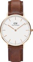 Daniel Wellington Classic St. Mawes DW00100035 - Horloge - Leer - Bruin - Ø 36 mm