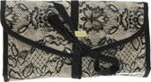 Victoria's Secret Small Hanging Beauty Bag Black Lace Over Nude