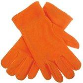 Oranje fleece handschoenen M/l