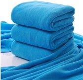 Sneldrogende Microvezel Handdoek / Badhanddoek - Large Microfiber Douche Handdoek - DONKER BLAUW