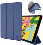 iPad 10.2 (2019) Hoes - Smart Book Case Siliconen Hoesje - iCall - Blauw