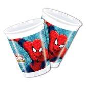 Spiderman Warriors bekers 8 stuks