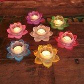 Set van 7 Sfeerlichten Lotus (glas)