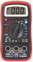DIGITALE MULTIMETER - CAT. III 300 V / CAT. II 500 V - 1999 COUNTS - DATA HOLD / ACHTERGRONDVERLICHTING / ZOEMER