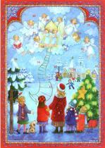 Adventskalender met Engelen n.r. 99 (geen chocolade)