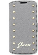 Guess Originele Studded Collection bookcase hoesje voor de Samsung Galaxy S4 Mini - Zilver