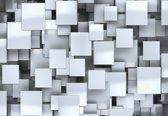 Fotobehang Abstract Squares Modern | XXL - 312cm x 219cm | 130g/m2 Vlies
