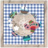 Lief! - Canvas Schilderij - Wereldbol - Meerkleurig - 30x30 cm