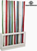 Gekleurde bamboe standaard by Craftenwood