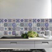 Walplus - Muursticker - Spaanse Blauwe Tegels - Blauw