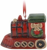 Kersthanger kerst trein 8 cm - kerstboomhanger