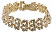 Armband Goudkleurig met kristallen - 18cm - Dielay