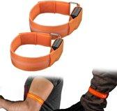 2 stuks LED armband veiligheidslicht oranje