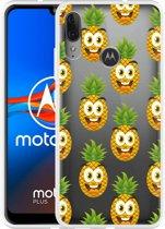 Motorola Moto E6 Plus Hoesje Happy Ananas
