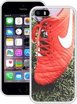 Case Creatives Telefoonhoesje Nike Football -  iPhone 5, 5s, SE   Wit - Handgemaakt