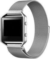 Milanees Horloge Band Voor Fitbit Blaze - Metalen Milanese Strap - Armband Strap RVS - Small/Large - Zilver Kleurig