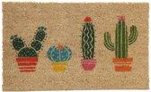 Puckator kokos deurmat Cactus - 76x36 cm