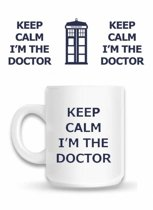 Starskie Dr Who Keep Calm Im the Doctor Boxed Mug