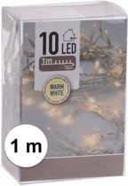Kerstverlichting op batterij warm wit 10 lampjes