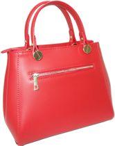 Handtas - leer - rood - model Cisano