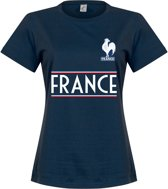 Frankrijk Dames Team T-Shirt - Navy - S
