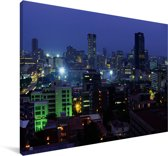Skyline van het centrum van het Afrikaanse Pretoria in Zuid-Afrika Canvas 140x90 cm - Foto print op Canvas schilderij (Wanddecoratie woonkamer / slaapkamer)