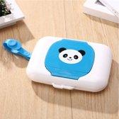 Baby doekjes houder / Natte, papieren handdoek doos / blauwe panda box, billen doekjes