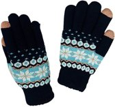 GadgetBay Winter touchscreen handschoenen sneeuwvlok blauw wol