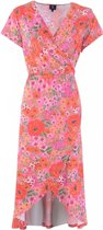 K Design  jurk zomerjurk N883 P682 oranje-roze-rood