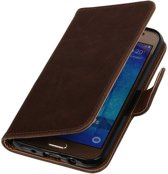 Mocca Pull-Up PU Hoesje Samsung Galaxy J5 Booktype Wallet Cover