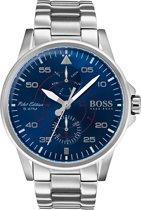 Hugo Boss HB1513519 Horloge - Staal - Zilverkleurig - Ø44 mm