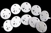 Stopcontact Beveiliging - Kind - Panda - Stopcontactbeveiliging - 2 Pin - Wit - 20 stuks