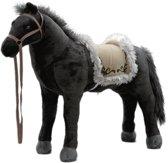 Happy People Zwart Paard met Geluid