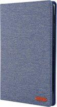 Let op type!! Voor Huawei MediaPad M6 10 8 doek Teature horizontale Flip PU lederen draagtas met met houder & kaartsleuven (Deep Blue)