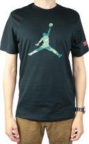 Nike City Of Flight 2 Tee AT9180-010, Mannen, Zwart, T-shirt maat: M EU