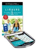 Boek cover Set knooppunter fietspocket Limburg 1 + knooppunterhouder van Dirk Remmerie
