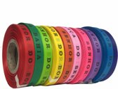 MixMamas Bonfim Lint Rol 43 m - Mulitpack 10 stuks - Roze, Oranje, Lichtroze, Paars, Rood