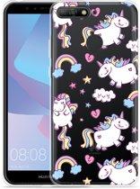 Huawei Y6 2018 Hoesje Fat Unicorn