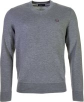 Fred Perry Classic Cotton V-Neck Sporttrui casual - Maat XL  - Mannen - grijs/paars