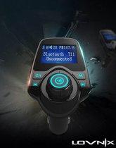 Lovnix 5 in 1 Bluetooth Carkit | Handsfree bellen en direct muziek streamen met een bluetooth verbinding | FM Transmitter | USB Oplader | Mp3 Speler | Display