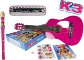 K3 muziek instrumenten set - gitaar - mondharmonica - blokfluit - inclusief stickers en boekje - speelgoed