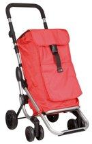 Playmarket - Boodschappentrolley - Go Up rood - Met cijferslot
