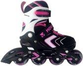 Move Arrow Inlineskates - Maat 34-37 - Meisjes - zwart/roze/wit