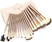 Professionele Make-up Kwastenset – 18 delig – Beige/Goud