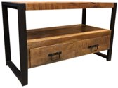 TV meubel mango hout + staal 100 cm breed