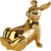 Pols Potten Moneybox Bunny Belly - Spaarpot - Goud