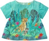 Triana top turquoise jungle