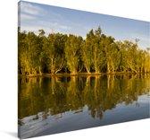 Zonnestralen van de laagstaande zon in het iSimangaliso Canvas 90x60 cm - Foto print op Canvas schilderij (Wanddecoratie woonkamer / slaapkamer)